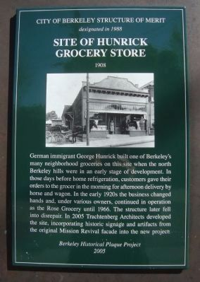 Site of Hunrick Grocery Store Marker image. Click for full size.