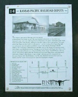 Kansas Pacific Railroad Depots Marker image. Click for full size.