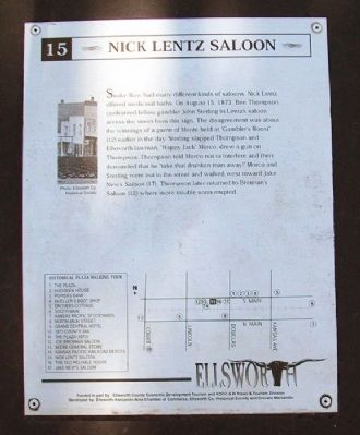 Nick Lentz Saloon Marker image. Click for full size.