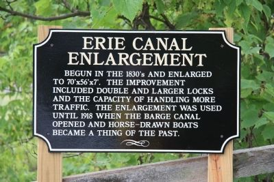 Erie Canal Enlargement Marker image. Click for full size.