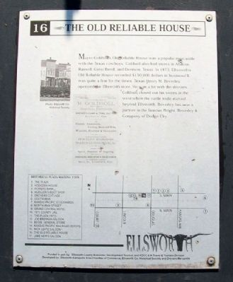 The Old Reliable House Marker image. Click for full size.
