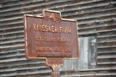 Knieskem Farm Marker image. Click for full size.