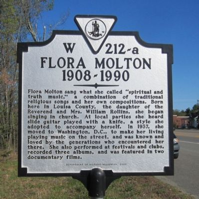 Flora Molton Marker image. Click for full size.