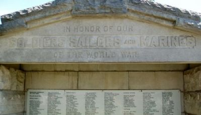 War Memorial Dedication image. Click for full size.