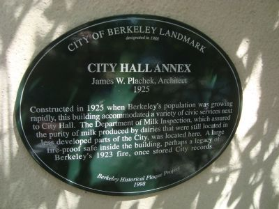 City Hall Annex Marker image. Click for full size.