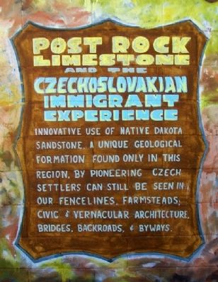 Post Rock Limestone and the Czechoslovakian Immigrant Experience Marker image. Click for full size.