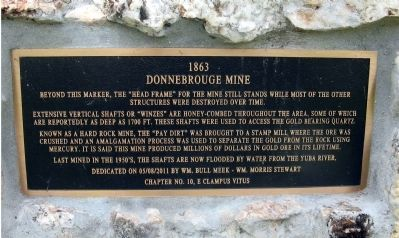 Donnebrouge Mine Marker image. Click for full size.