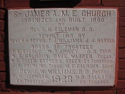 St. James A. M. E. Church Plaque image. Click for full size.