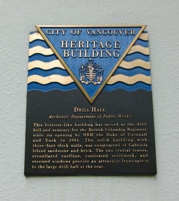 Drill Hall Marker image. Click for full size.