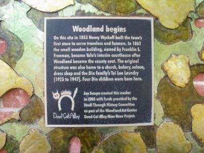 Woodland begins Marker image. Click for full size.