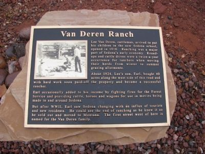 Van Deren Ranch Marker image. Click for full size.