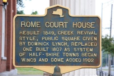 Rome Court House Marker image. Click for full size.