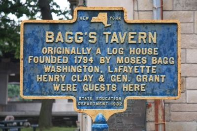 Bagg's Tavern Marker image. Click for full size.