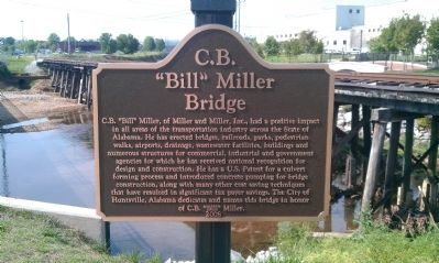 "C.B. ""Bill"" Miller Bridge Marker image. Click for full size."