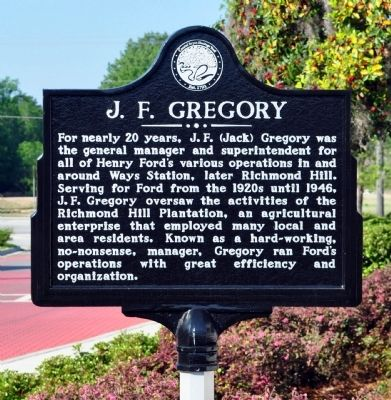 J. F. Gregory Marker image. Click for full size.