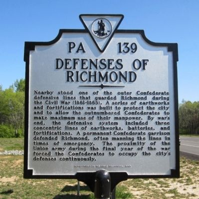 Defenses of Richmond Marker image. Click for full size.
