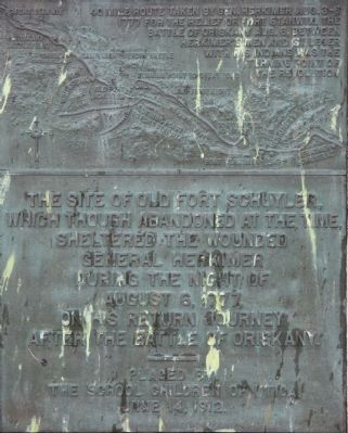 The Site of Old Fort Schuyler Marker image. Click for full size.