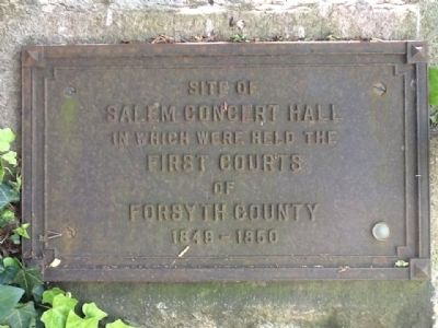 Salem Concert Hall Marker image. Click for full size.