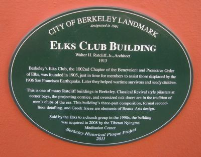 Elks Club Building Marker image. Click for full size.