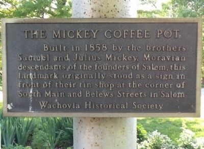 The Mickey Coffee Pot Marker image. Click for full size.