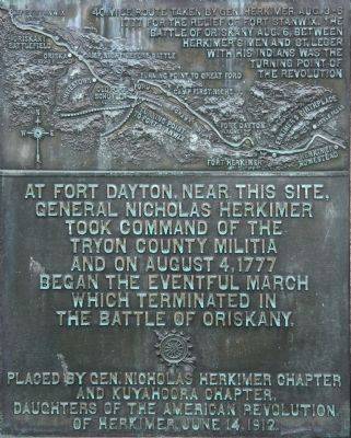 General Herkimer Takes Command Marker image. Click for full size.