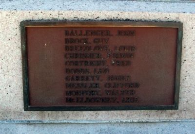 Right Side Plaque - - Blackford County W.W. I Honor Roll Marker image. Click for full size.