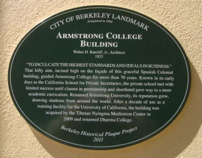 Armstrong College Building Marker image. Click for full size.