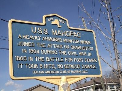 U.S.S. Mahopac Marker image. Click for full size.
