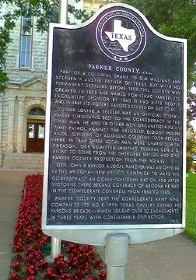 Parker County, C.S.A. Historical Marker image. Click for full size.