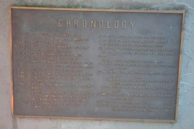 Sir William Johnson's Chronology at Grave image. Click for full size.