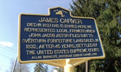 James Carver Marker image. Click for full size.