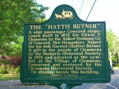 "The ""Hattie Butner"" Marker image. Click for full size."