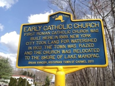 Early Catholic Church Marker image. Click for full size.