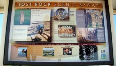 Post Rock Scenic Byway Marker (Side B) image. Click for full size.