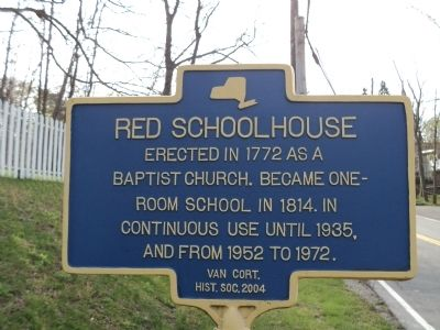 Red Schoolhouse Marker image. Click for full size.