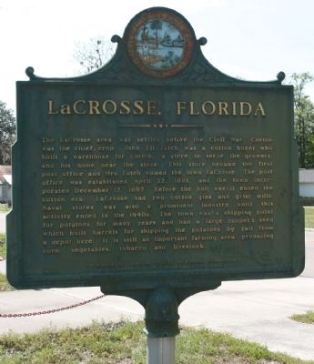 LaCrosse, Florida Marker image. Click for full size.