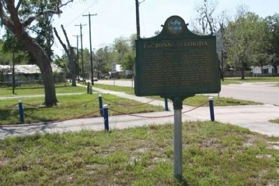 LaCrosse, Florida Marker, looking south along State Road 121 image. Click for full size.
