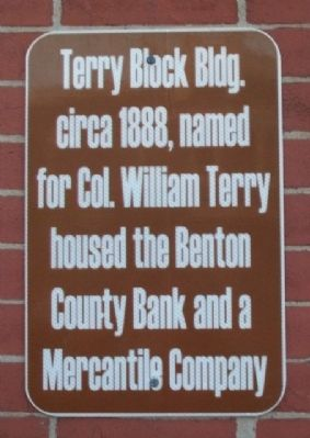 Terry Block Marker image. Click for full size.