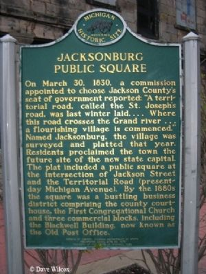 Jacksonburg Public Square Marker image. Click for full size.