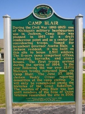 Camp Blair Marker image. Click for full size.
