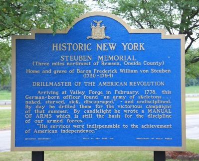 Steuben Memorial Marker image. Click for full size.