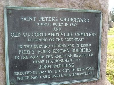 Saint Peter's Churchyard & Old Van Cortlandtville Cemetery Marker image. Click for full size.