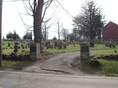 Markers at Hillside Cemetery Entrance image. Click for full size.