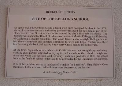 Site of the Kellogg School Marker image. Click for full size.