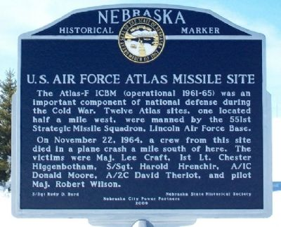 U.S. Air Force Atlas Missile Site Marker image. Click for full size.