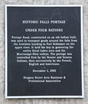 Historic Falls Portage Marker image. Click for full size.