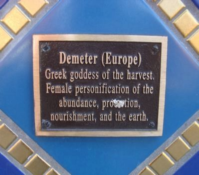 Demeter Plaque Located on the Gaia Building image. Click for full size.