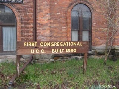 First Congregational Church Marker image. Click for full size.