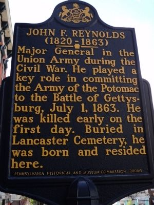 John F. Reynolds Marker (new) image. Click for full size.