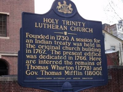 Holy Trinity Lutheran Church Marker image. Click for full size.